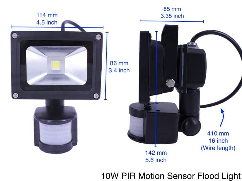 Flood light motion sensor security led flood light oznium motion sensor flood light technical info mozeypictures Images