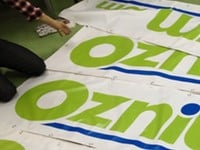 Huge 10 Foot Oznium.com Vinyl Banner