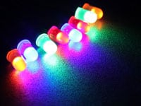 Prewired LEDs with Diffused Color Lens
