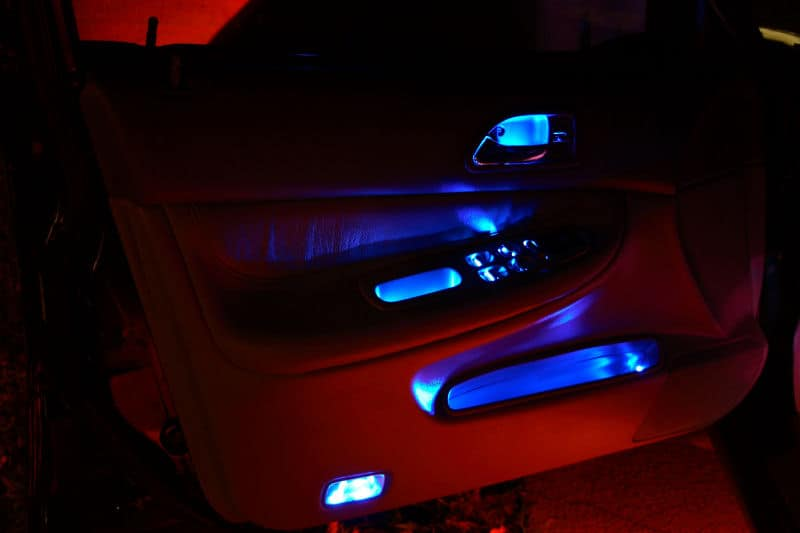 super bright leds oznium super bright leds oznium 5mm blue leds installed in the door handles hand grips