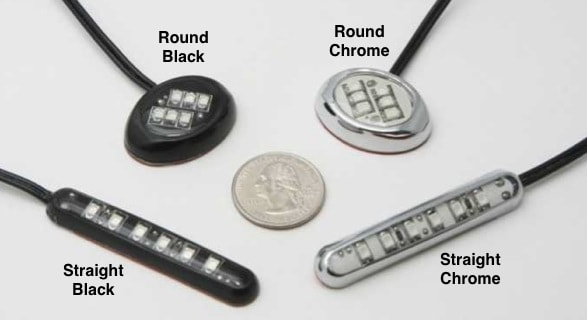 Round Chrome Bike LED Module