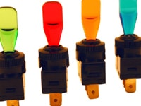 Image of Illuminated Wedge Toggle Switch - Remotes & Switches