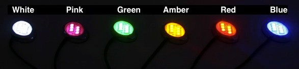Blue Red White Yellow Pink Green LED Motorcycle LEDs - LED Motorcycle Lighting