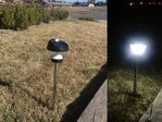 LED Solar powered outdoor path light