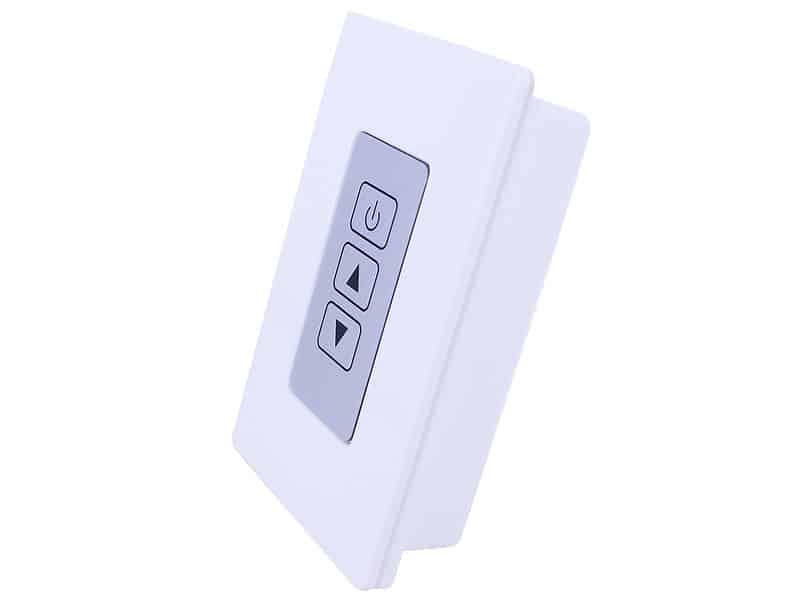 wireless rf remote wall mount led switch dimmer oznium. Black Bedroom Furniture Sets. Home Design Ideas